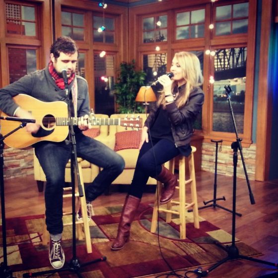 Anna Gilbert sings on AM Northwest, KATU/abc Morning Show in Portland, OR